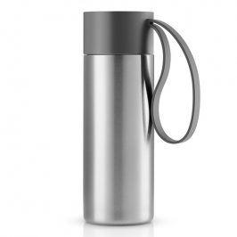 Eva Solo Nerezový termohrnek To Go 0,35 l s šedým řemínkem