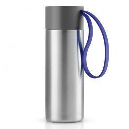 Eva Solo Nerezový termohrnek To Go 0,35 l s tmavě modrým řemínkem