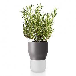 Eva Solo Samozavlažovací keramický květináč šedý Ø 11 cm
