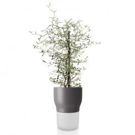 Eva Solo Samozavlažovací keramický květináč šedý Ø 13 cm