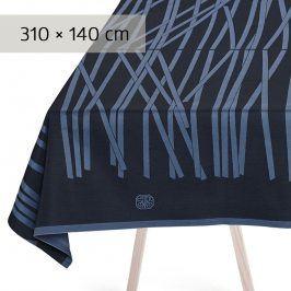 GEORG JENSEN DAMASK Ubrus black blue 310 × 140 cm MIKADO