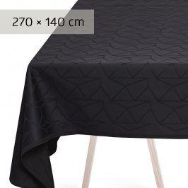 GEORG JENSEN DAMASK Ubrus anthracite 270 × 140 cm ARNE JACOBSEN