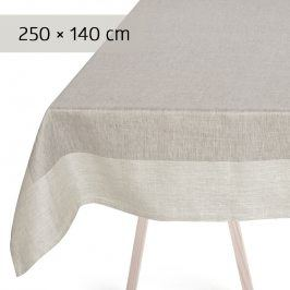 GEORG JENSEN DAMASK Ubrus grey 250 × 140 cm PLAIN