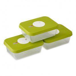 Joseph Joseph Sada krabiček na potraviny s datem 3dílná zelená Dial™