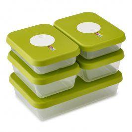 Joseph Joseph Sada krabiček na potraviny s datem 5dílná zelená Dial™