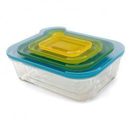 Joseph Joseph Kompaktní sada skleněných nádob s víčky Nest™ Glass Storage