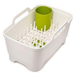 Joseph Joseph Plastový dřez s odkapávačem bílý Wash&Drain™ Plus