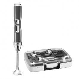KitchenAid Bezdrátový tyčový mixér Artisan stříbřitě šedá