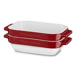 KitchenAid Sada mini keramických pekáčů 2 ks královsky červená