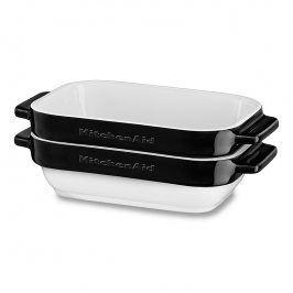 KitchenAid Sada mini keramických pekáčů 2 ks černá