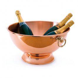 MAUVIEL Měděná mísa na Champagne s bronzovými uchy Ø 40 cm