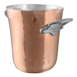 MAUVIEL Měděná tepaná nádoba na led s nerezovými uchy Ø 20 cm