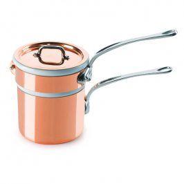 MAUVIEL Měděný rendlík s nerezovou rukojetí Ø 12 cm na vaření ve vodní lázni