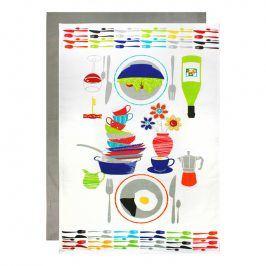 MÜkitchen Maxi kuchyňská utěrka s nádobím 2 ks