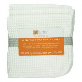MÜkitchen Kuchyňský hadřík vafle bílý MÜmicro® 3 ks