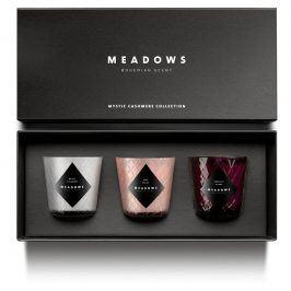 Meadows Dárková kolekce 3 vonných svíček mini Mystic Cashmere