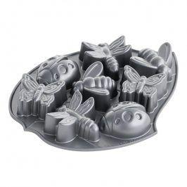 NordicWare Forma na 8 piškotů broučci Backyard Bugs Bundt® stříbrná, Nordic Ware
