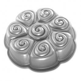 NordicWare Forma na skořicové rolky Cinnamon Pull Apart Bundt® stříbrná, Nordic Ware