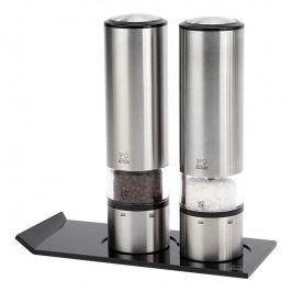 Peugeot Dárkový set ELIS SENSE DUO, elektrický mlýnek na sůl, pepř a stojánek