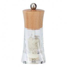 Peugeot Mlýnek na vlhkou mořskou sůl OLERON přírodní dřevo/akryl 14 cm