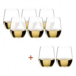 Riedel Výhodné balení 6+2 ks zdarma sklenic Viognier, Chardonnay O-Riedel