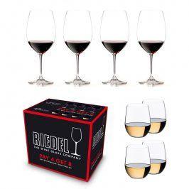 Riedel Výhodné balení 4 ks Sklenice Bordeaux Vinum + 4 ks Viognier O-Riedel