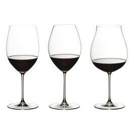 Riedel Tasting Set na červené víno Veritas - 3 různé sklenice