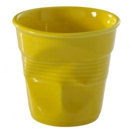 REVOL Kelímek na espresso 8 cl žlutá Seychely Froissés