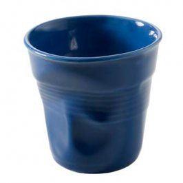 REVOL Kelímek na espresso 8 cl modrý Froissés
