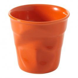 REVOL Kelímek na cappuccino 18 cl pomerančová Froissés