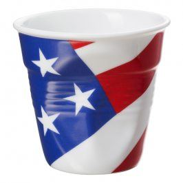 REVOL Kelímek na espresso 8 cl s vlajkou U.S.A. Froissés