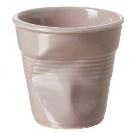 REVOL Kelímek na cappuccino 18 cl šedohnědý Froissés