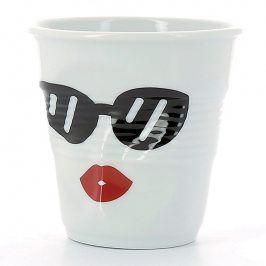 REVOL Kelímek na espresso 8 cl Madame Glam Froissés