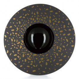 REVOL Talíř Sphère černý se zlatým zdobením Solid