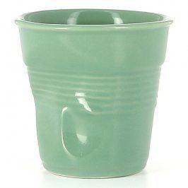 REVOL Kelímek na cappuccino 18 cl šalvějově zelený Froissés