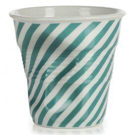 REVOL Kelímek na cappuccino 18 cl zelená Berlingot Froissés
