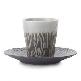 REVOL Hrnek na espresso 8 cl s podšálkem pepřový Arborescence