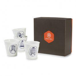 REVOL Dárkový set kelímků na espresso 8 cl 4 kusy Winter Chic Froissés