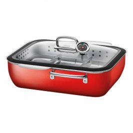 Silit Ecompact® systém pro vaření v páře, pečení a uzení s nerezovou vložkou červený