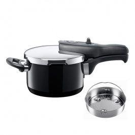 Silit Tlakový hrnec Sicomatic® t-plus Black 2,5 l s děrovanou vložkou