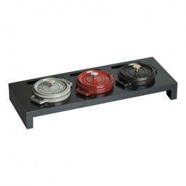 Staub Servírovací stojan na 3 litinové hrnce mini černý