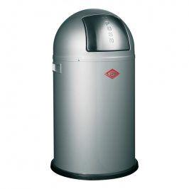 Wesco Odpadkový koš Pushboy Junior 22 l stříbrný