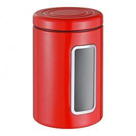 Wesco Dóza na potraviny s průhledem a barevným víkem červená