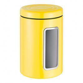 Wesco Dóza na potraviny s průhledem a barevným víkem citronová