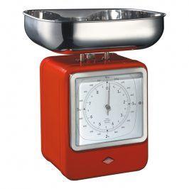 Wesco Kuchyňská váha s hodinami červená