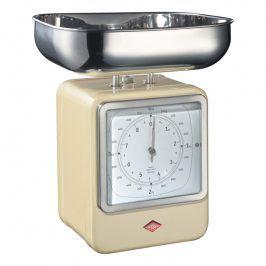 Wesco Kuchyňská váha s hodinami mandlová