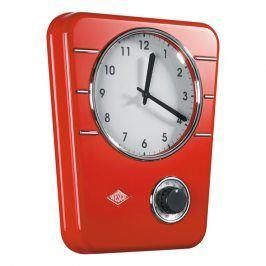 Wesco Kuchyňské hodiny s minutkou červené
