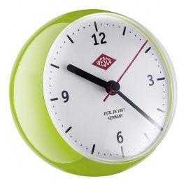 Wesco Stolní hodiny mini světle zelené
