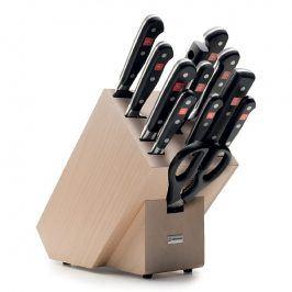 WÜSTHOF Sada nožů se světlým blokem, ocílkou a nůžkami 13dílná Classic