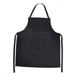 ZONE Kuchyňská zástěra bavlněná black